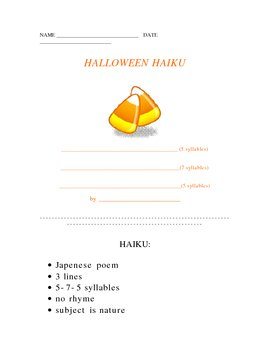Halloween Haiku Poetry Form