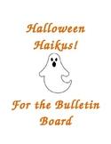 Halloween Haikus Bulletin Board