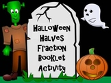 Halloween Halves Fraction Booklet Activity - A First Grade Geometry Intro