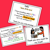 Halloween Handout Cards - Boardmaker Visual Aids for Autism and Non-Verbal