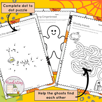 Halloween Handwriting Activities for Grade 2, 3, 4, 5, 6
