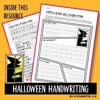 Halloween Handwriting workbook