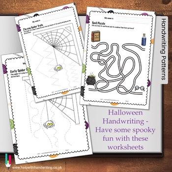Early Years Halloween Handwriting Activities for Kindergar