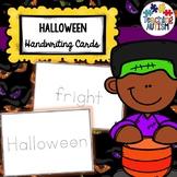Halloween Handwriting Cards