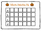 Halloween Handwriting Help