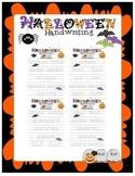 Halloween Handwriting Packet