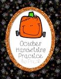 Halloween Handwriting Practice (No Prep!)