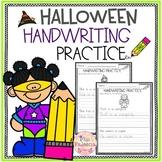 Halloween Handwriting Practice