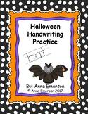 Halloween Handwriting Practice A-Z