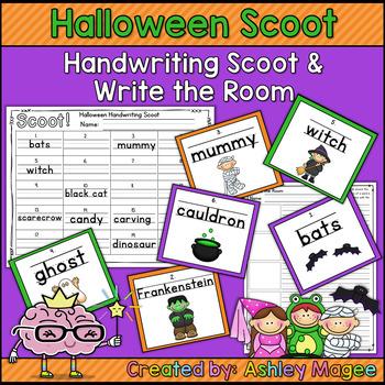 Halloween Handwriting Scoot or Write the Room