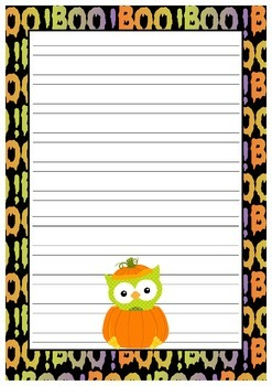 Halloween Handwriting Without Tears Paper