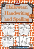 Halloween Handwriting and Spelling Game