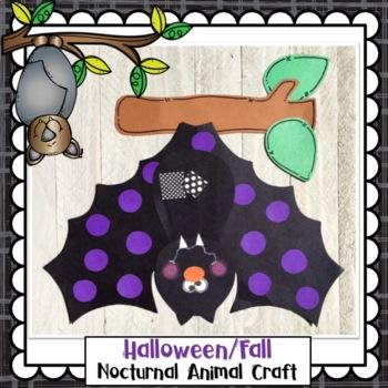 Halloween Hanging Bat Craft and Class Book
