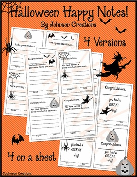 Halloween Happy Notes