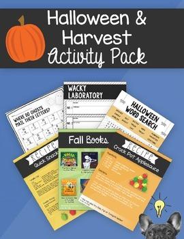 Halloween & Harvest Activity Pack