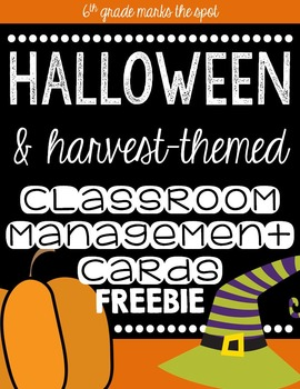 Halloween & Harvest-Themed Class Behavior Management