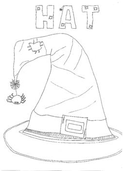 Halloween: Hat Colouring Sheet