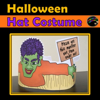 Halloween Hat Costume (Printable in Full Color and Black & White)