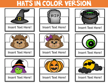 Halloween Crowns (Editable)