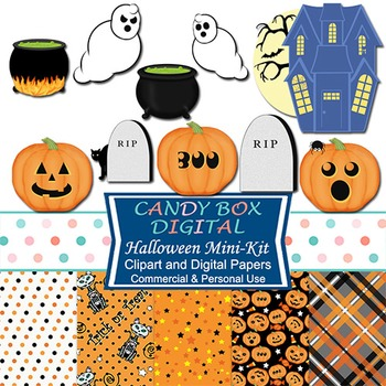 Halloween Haunt Combo Pack w/ Clip Art & Digital Papers