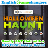 Halloween Haunt REVERSE Escape Room! Break IN to ANY Unit or Content Area!