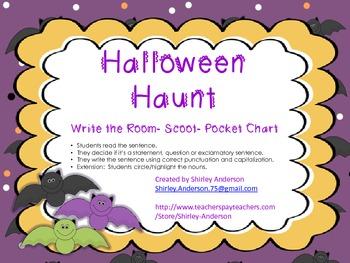 Halloween Haunt- Sorting Sentences, Noun review