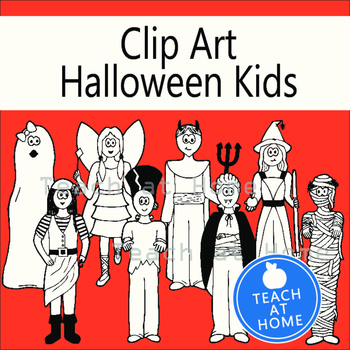 Halloween Haunted Friends Clipart, October, Holiday