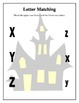 Halloween Haunted House ABC Letter Matching Worksheets