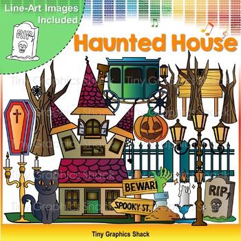Halloween Haunted House Clip Art