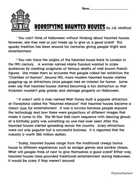 Halloween Haunted House Close Reading Passage