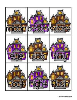 Halloween: Haunted House Compound Word Match