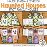 Halloween Haunted House Fact Families Multiplication and Division
