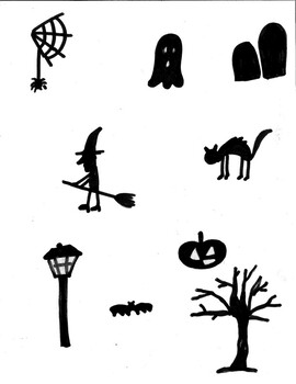 Halloween Haunted House Silhouette Drawing - Supplemental Shapes