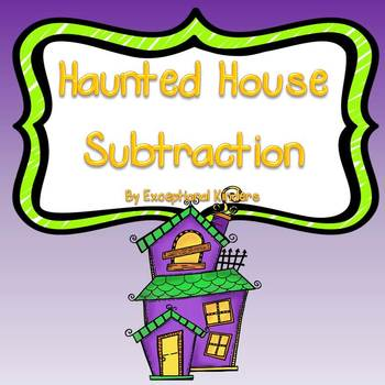 Halloween Haunted House Subtraction Mats