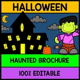 Halloween Haunted House Tour Brochure {100% Editable} {Reading} {Writing}