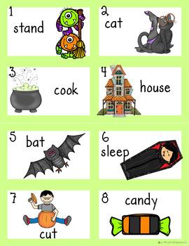 Noun or Verb?  Halloween Haunted House Word Sort