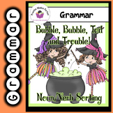 Halloween Bubble, Bubble, Toil and Trouble Noun or Verb Word Sort