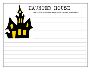 Halloween Haunted House writing project