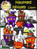 Halloween - Haunted Houses Clip Art (School Designhcf)
