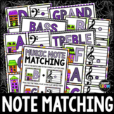 Halloween Haunted Houses Music Notes Matching Flashcards!