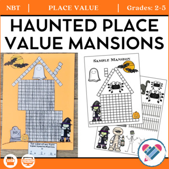 Halloween Haunted Place Value Mansions