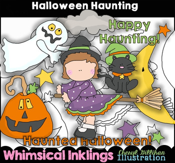 Halloween Haunting Clipart Collection NO LICENSE REQUIRED
