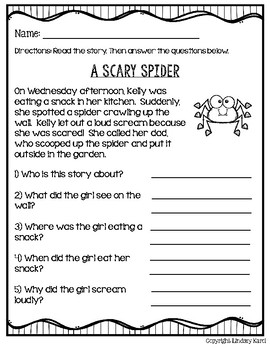 Halloween Haunts Mini Stories and WH Comprehension Questions Set 2