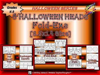 Halloween Heads Large Fold-Ems Writing Activity