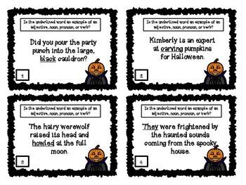 Halloween Headless Horseman Grammar Game