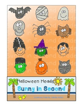 Halloween Heads Clip Art for Personal and Commercial Use