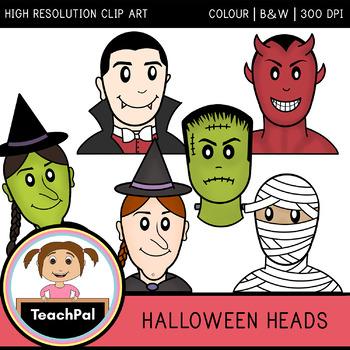 Halloween Heads - Halloween Clip Art