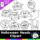 Halloween Heads clipart - 20 images
