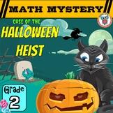 Halloween Heist Math Mystery Game - 2nd Grade Math Worksheets Activity Pack