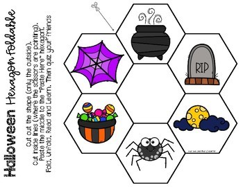 Halloween Hexagon Foldable {French and English Vocabulary}